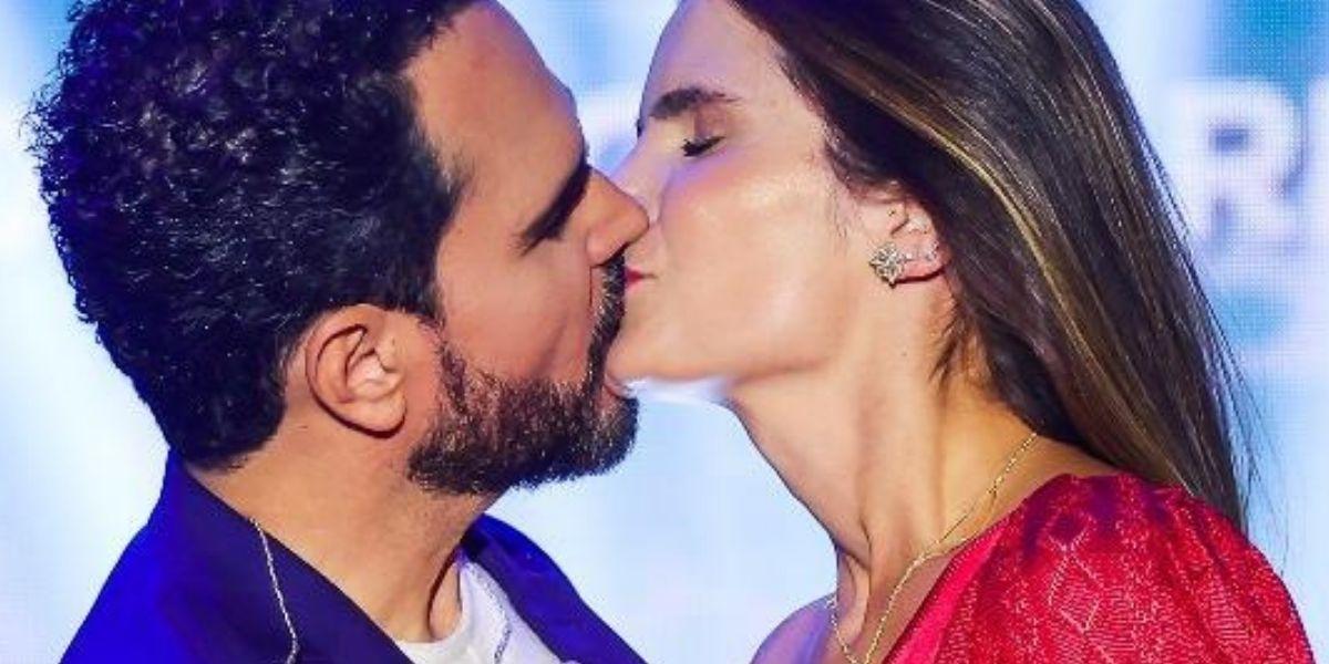 Luciano Camargo e Flávia Camargo (Foto: Reprodução, Record)