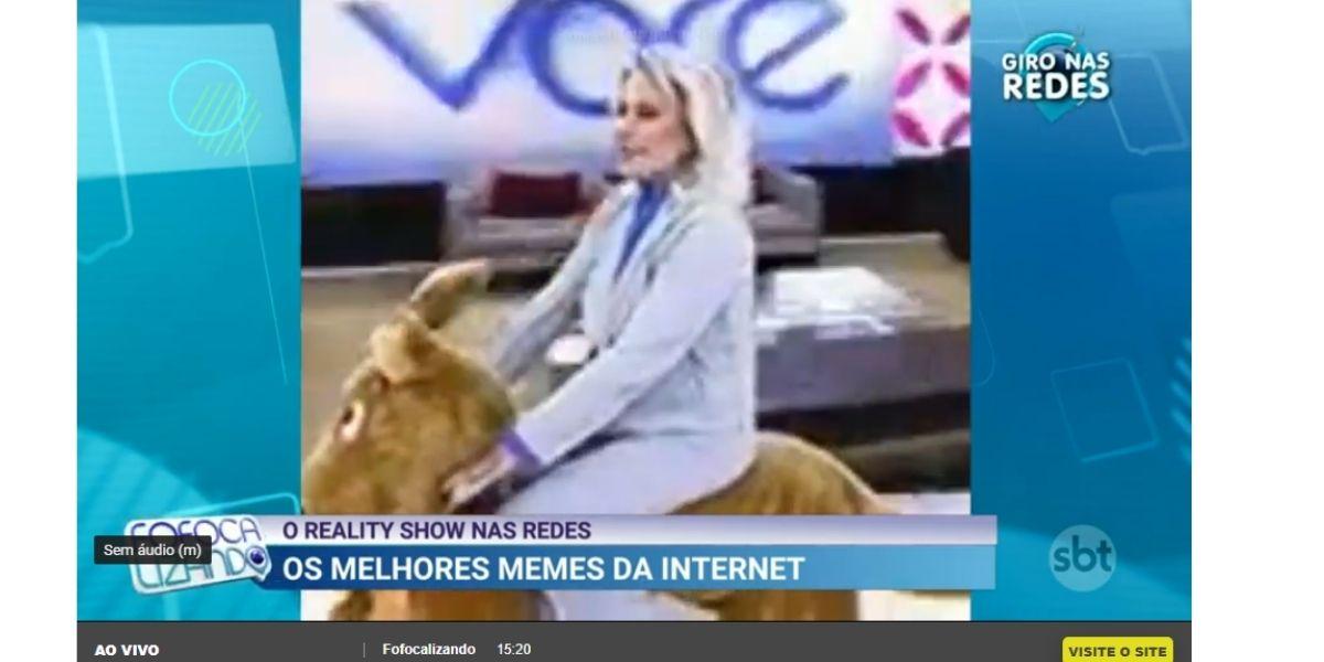 Meme de Ana Maria é exibido em programa de Chris Flores (Reprodução)