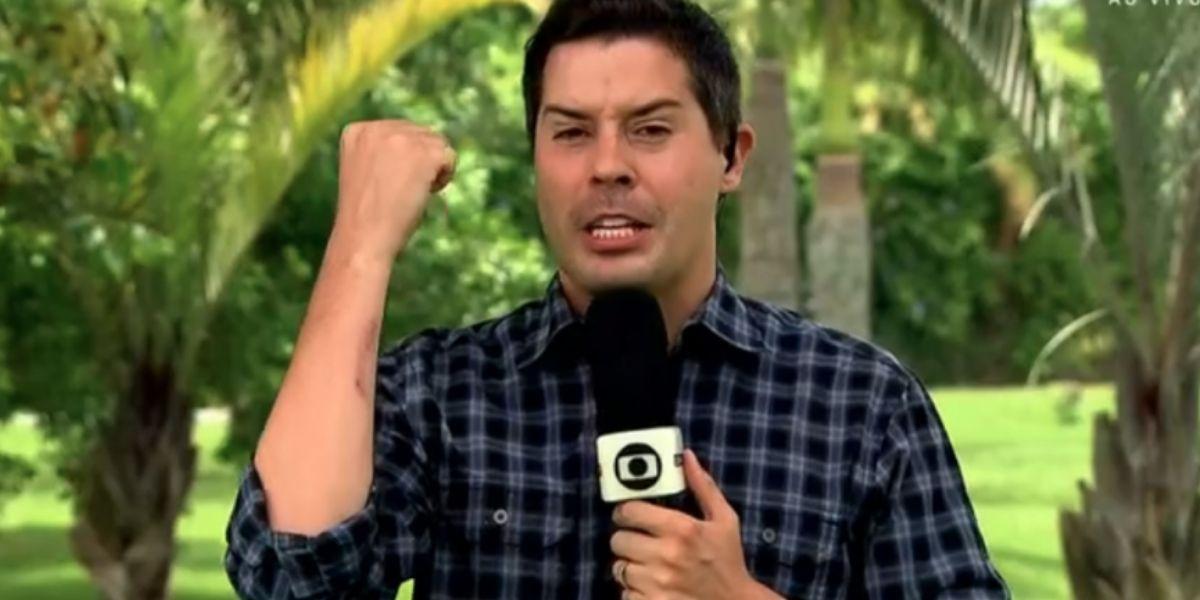 Anselmo Caparica, Repórter da Globo (Foto: Reprodução)