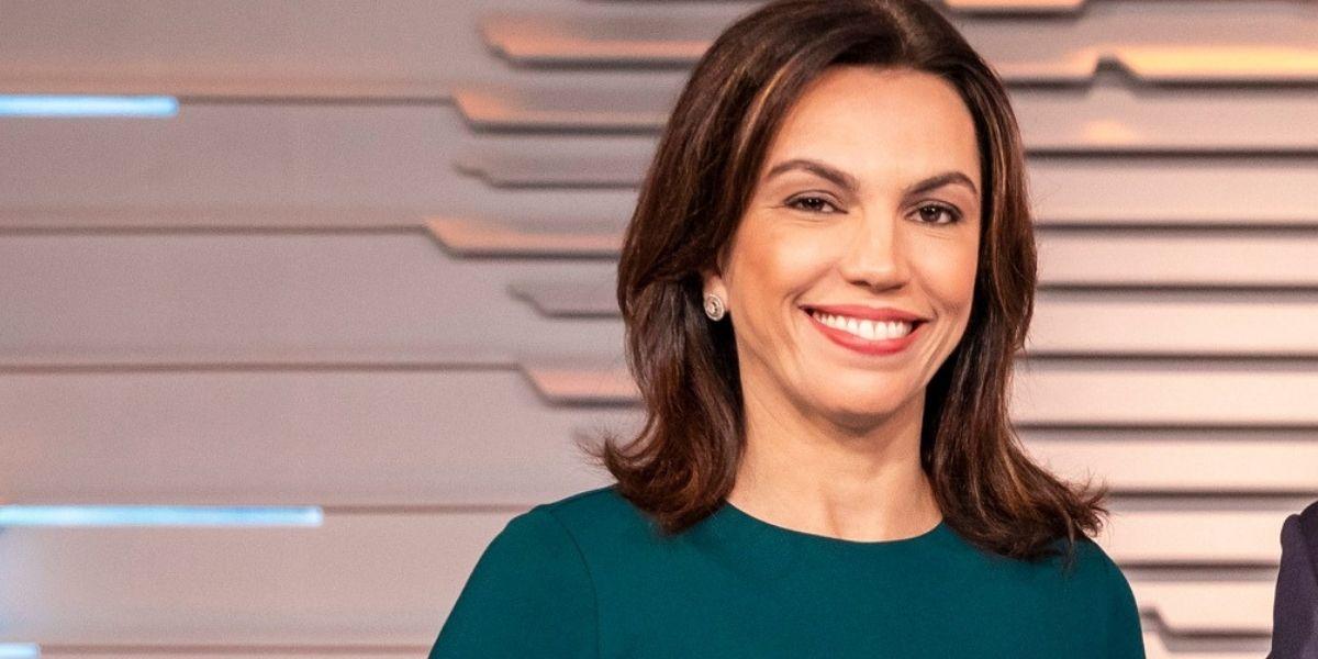 Ana Paula Araújo no Bom Dia Brasil (Reprodução: Globo)