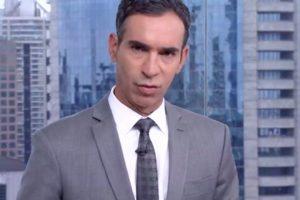 Cesar Tralli atualizou estado de saúde de Bruno Covas (Foto: Reprodução/TV Globo)