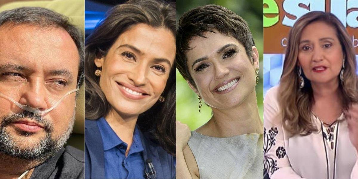 Geraldo Luís, Renata Vasconcellos, Sandra Annenberg e Sonia Abrão (Reprodução)