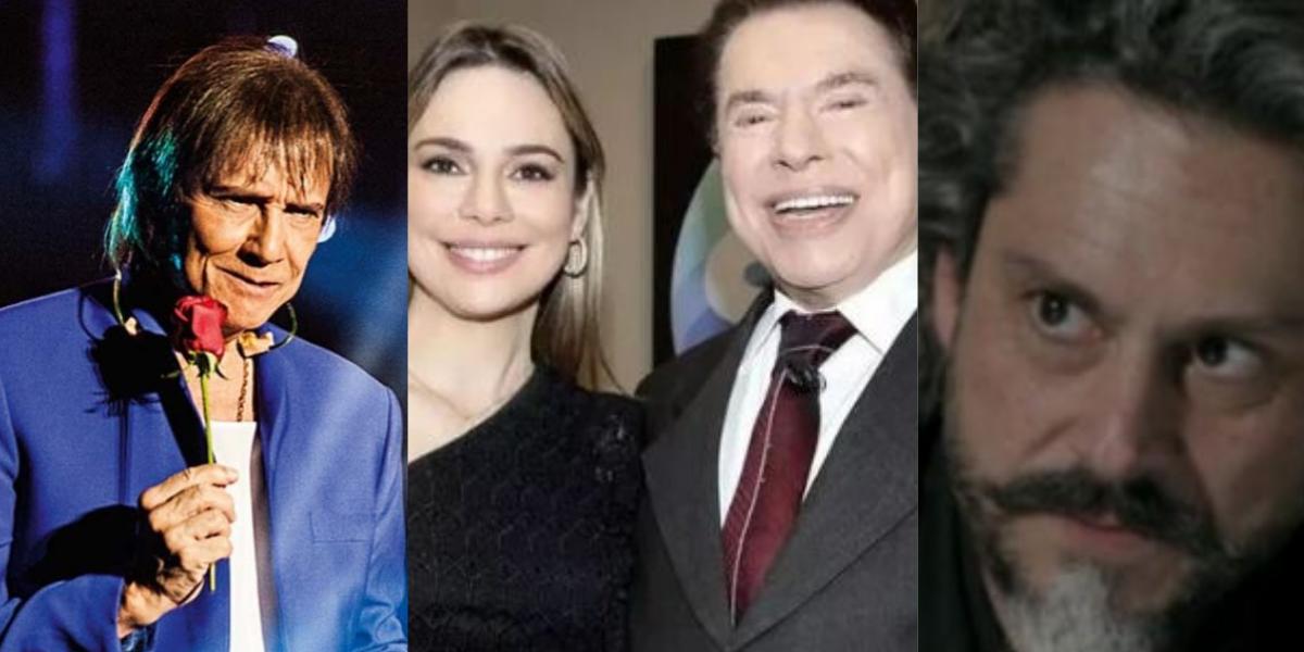 Roberto Carlos, Rachel Sheherazade, Silvio Santos e Globo (Reprodução)