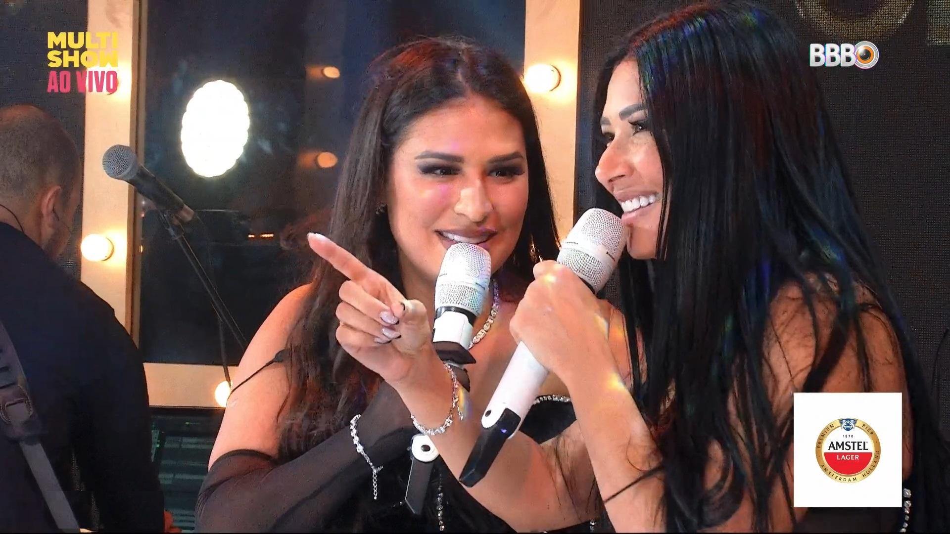 Simone e Simaria no show do BBB (Foto: Reprodução)