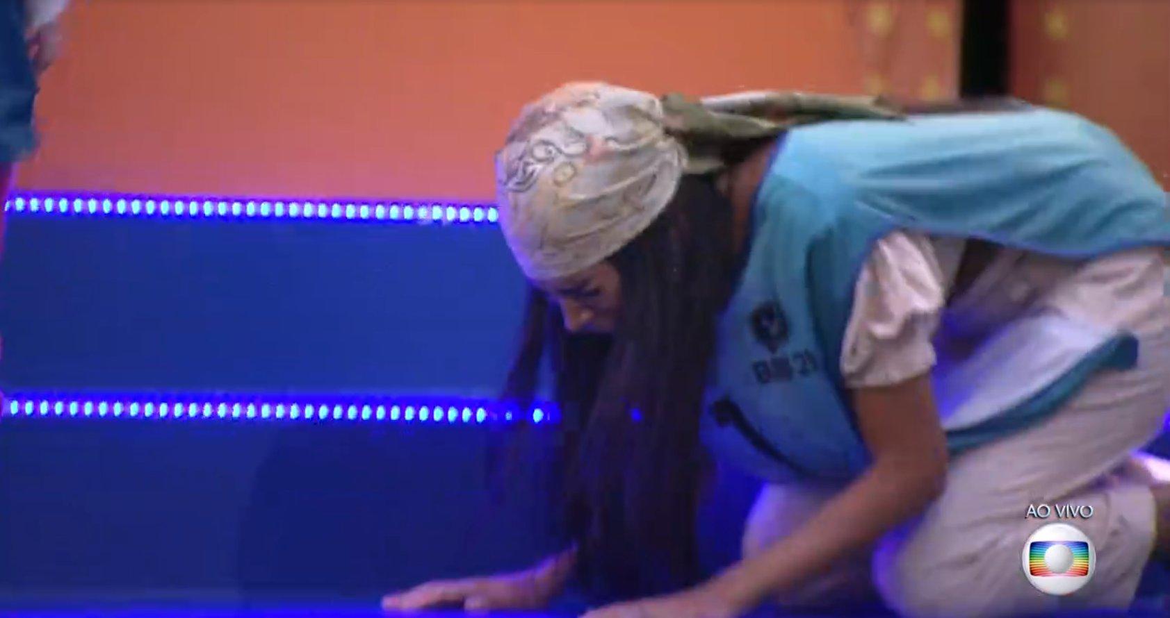 Pocah ganhou prova do líder no BBB21 (Foto: Reprodução)