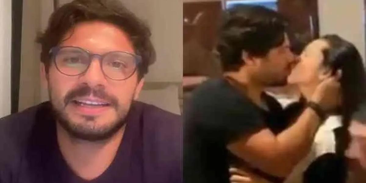 Rapaz que surge em vídeo beijando Juliette se pronunciou (Imagem: Montagem)