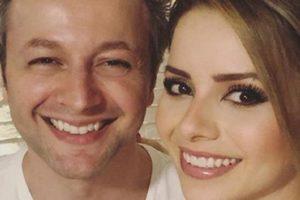 O casal Lucas Lima e Sandy