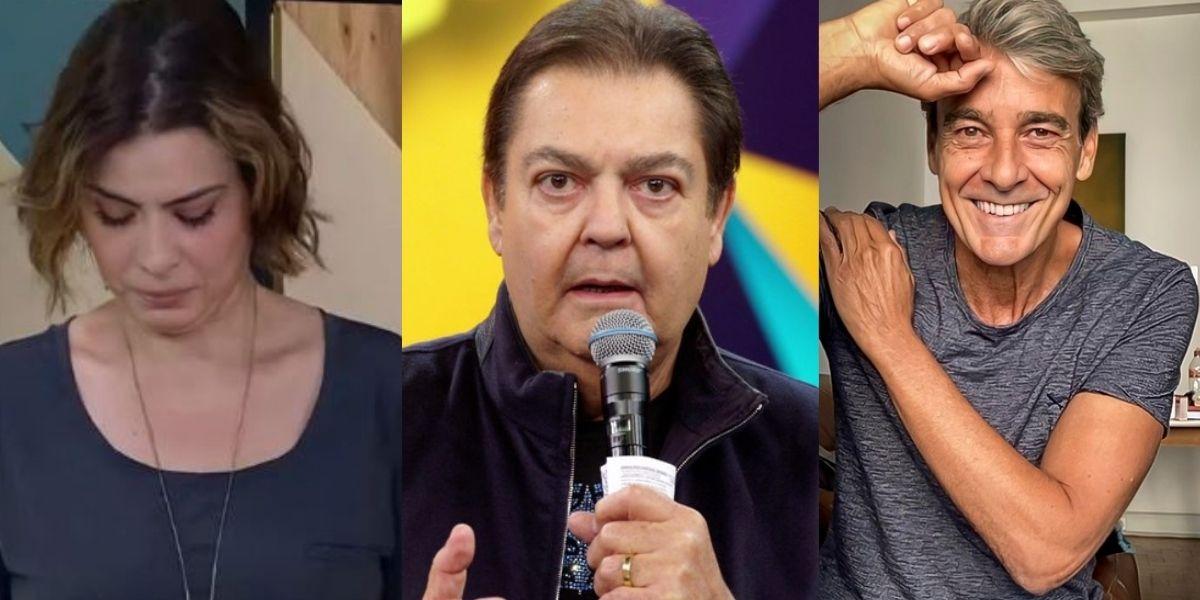 Michele Loreto, Faustão e Alexandre Borges (Reprodução)