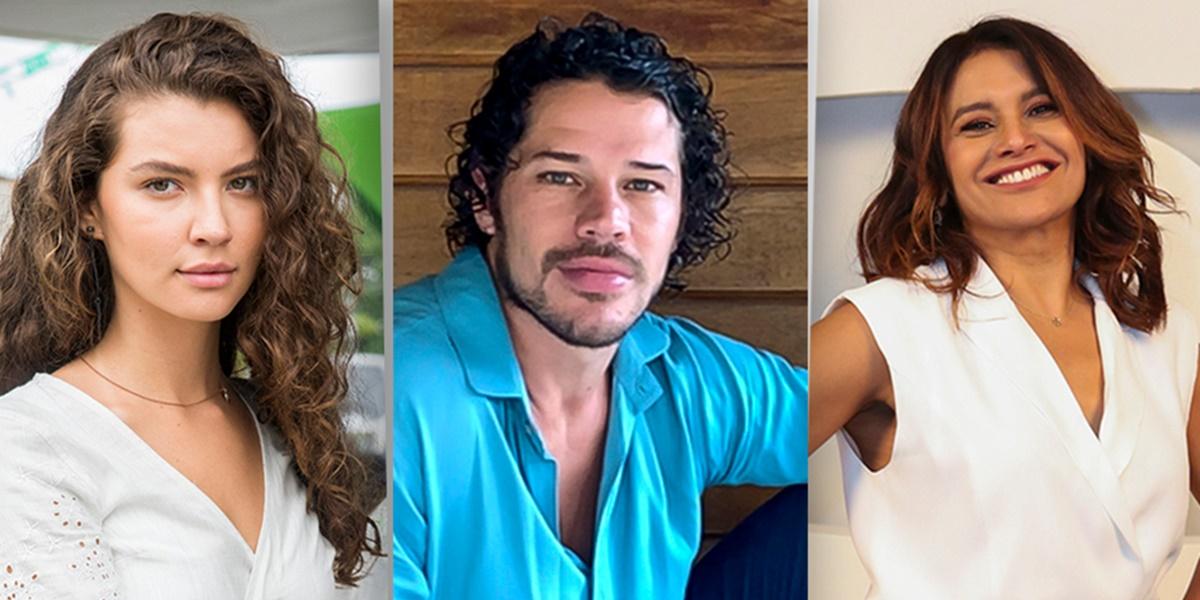 Alanis Guillen, José Loreto e Dira Paes estão escalados para o elenco de Pantanal na Globo (Imagem: Montagem)