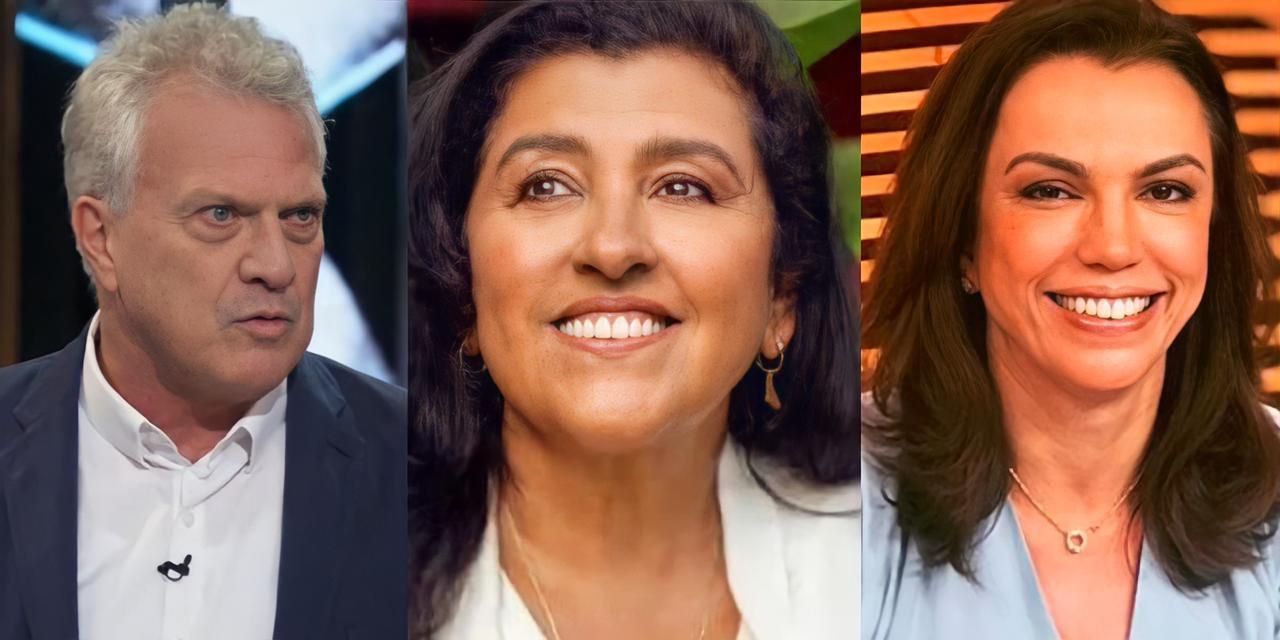 Pedro Bial, Regina Casé e Ana Paula Araújo (Reprodução)