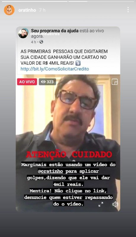 Ratinho fez denúncias nas redes sociais (Foto: Reprodução)