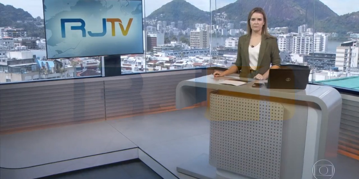 O RJTV quebrou os protocolos da Globo ao mostrar acidente que ocorreu no Record TV Rio (Foto: Reprodução)