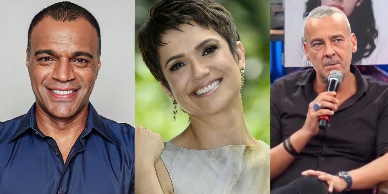Denilson, Sandra Annenberg e Alexandre Borges (Reprodução)