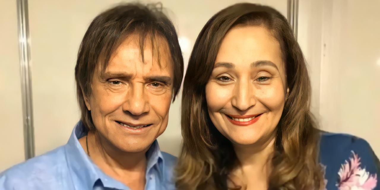 Roberto Carlos e Sonia Abrão (Reprodução)