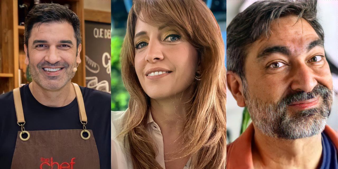 Edu Guedes, Poliana Abritta e Zeca Camargo (Reprodução)
