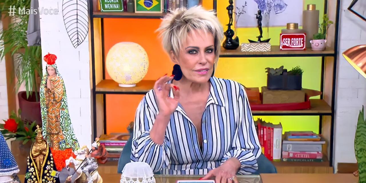 """Ana Maria no comando do """"Mais Você"""", da Globo, desta sexta-feira, 23 (Reprodução)"""