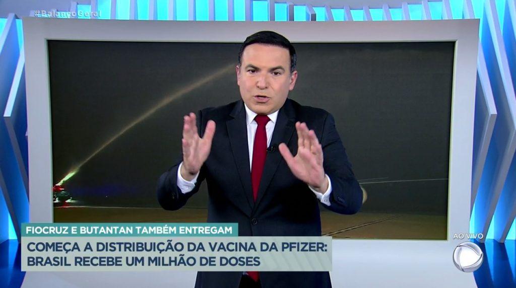 Reinaldo Gottino na emissora de Edir Macedo