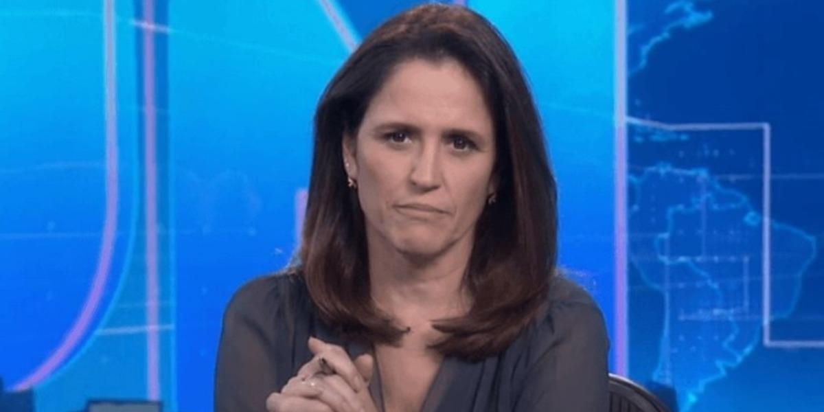 Ana Luiza Guimarães, âncora do Jornal Nacional, voltou ao ar após morte do marido (Foto: Reprodução)
