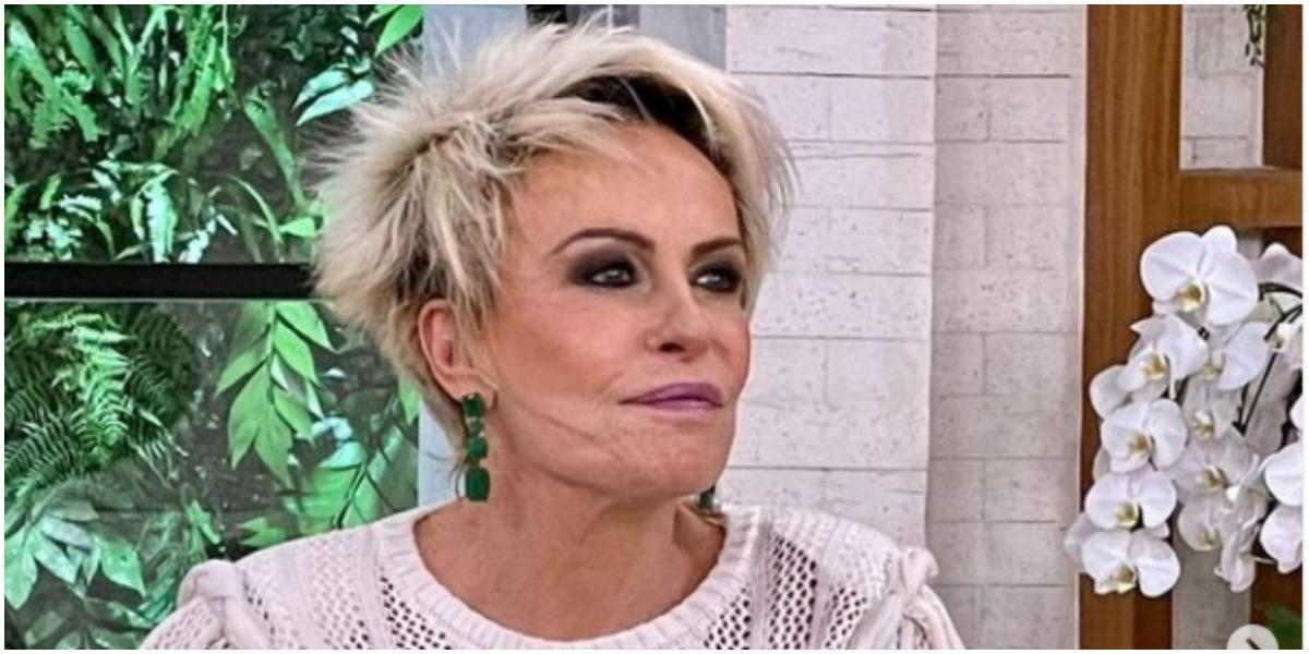 Sendo uma mãezona apaixonada, Ana Maria Braga se emocionou no Mais Você da Globo (Foto: Reprodução)