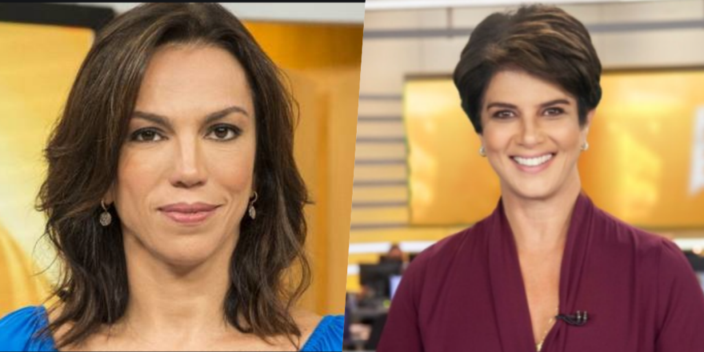 Mariana Godoy e Ana Paula Araújo comandam telejornais nas manhãs de Globo e Record (Foto reprodução)