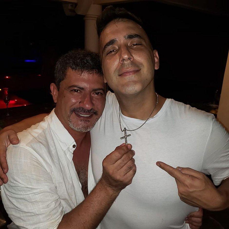 André Marques e o amigo Tom Veiga, intérprete do Louro José (Foto: Reprodução/Instagram)