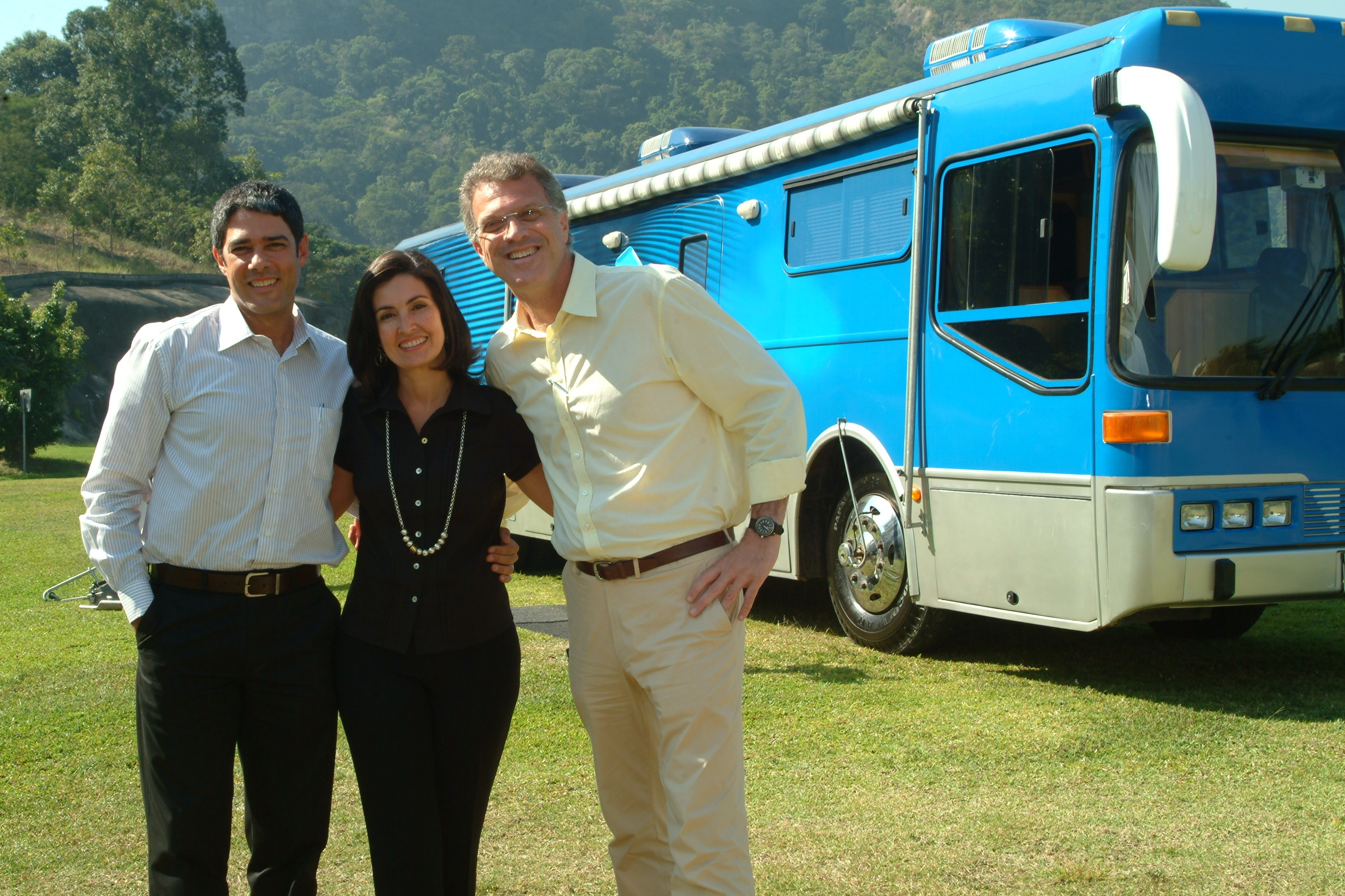 William Bonner, Fátima Bernardes e Pedro Bial (Foto: Reprodução)