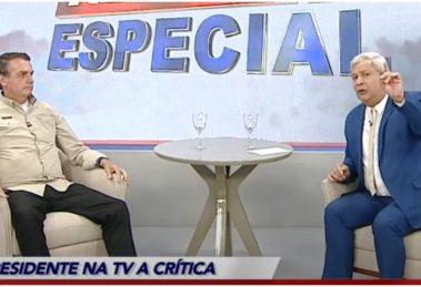 Jair Bolsonaro e Silêra Jr durante entrevista - Foto: Reprodução