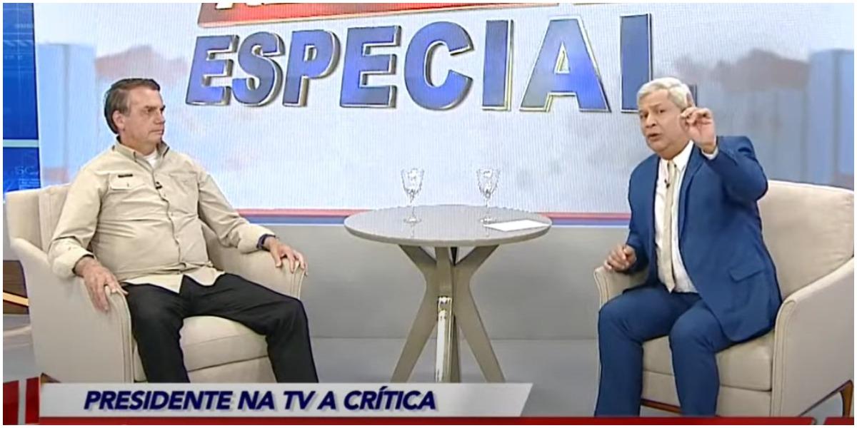 Jair Bolsonaro e Sikêra Jr durante entrevista - Foto: Reprodução
