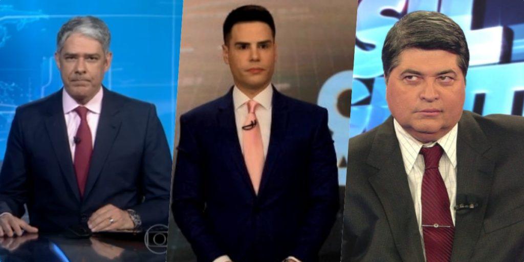 Bonner, Luiz Bacci e Datena (Foto reprodução)