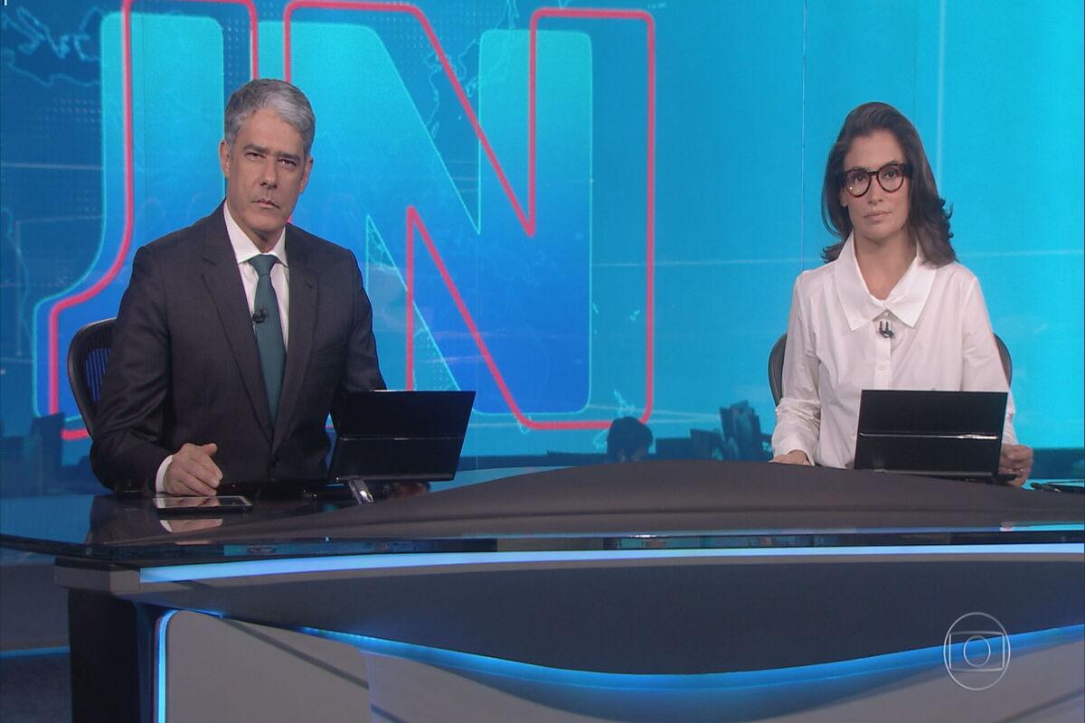William Bonner e Renata Vasconcellos no Jornal Nacional (Foto: Divulgação)