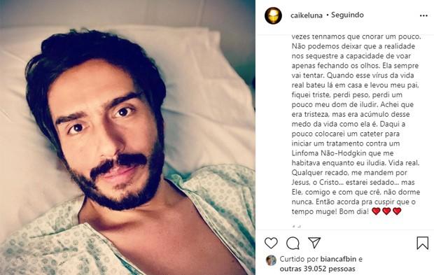 Caike Luna, que fez o Zorra Total, contou sobre sua doença (Foto: Reprodução)
