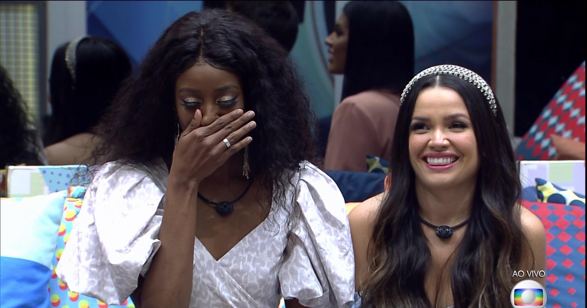 Camilla de Lucas e Juliette pouco antes da eliminação do Big Brother Brasil (Foto: Reprodução)