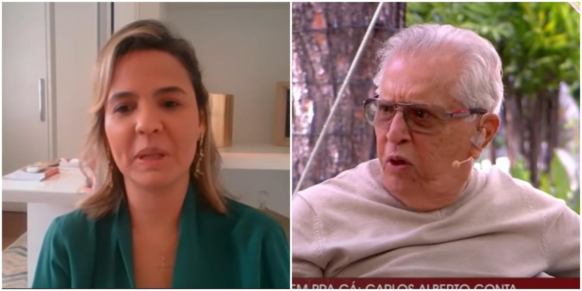Carlos Alberto disse que Renata Domingues estava com ele por amor e médica respondeu (Foto: Reprodução)