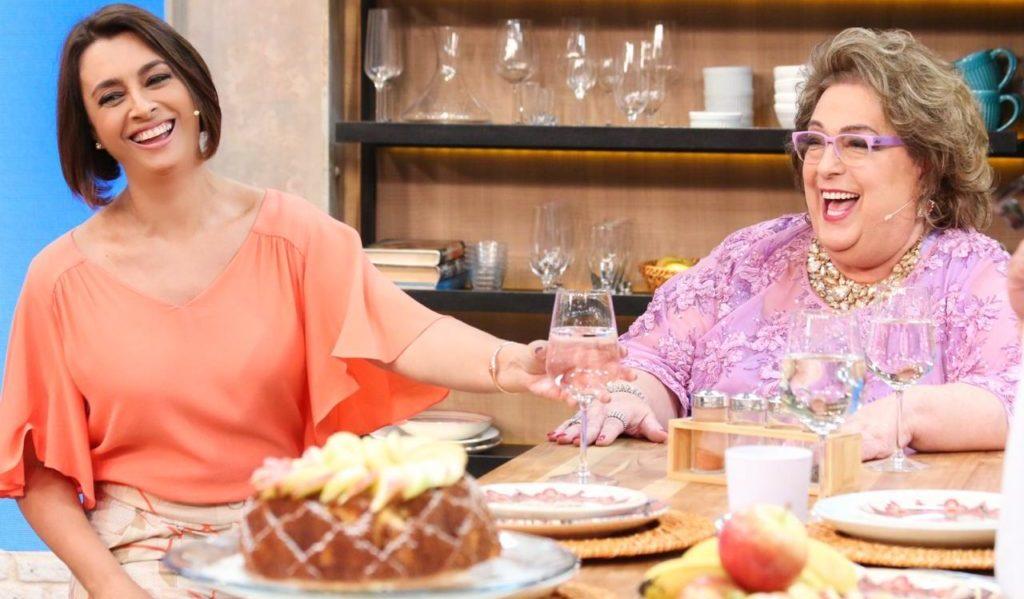 A relação de Catia Fonseca e Mamma Bruschetta nem sempre foi amistosa (Foto: Reprodução)