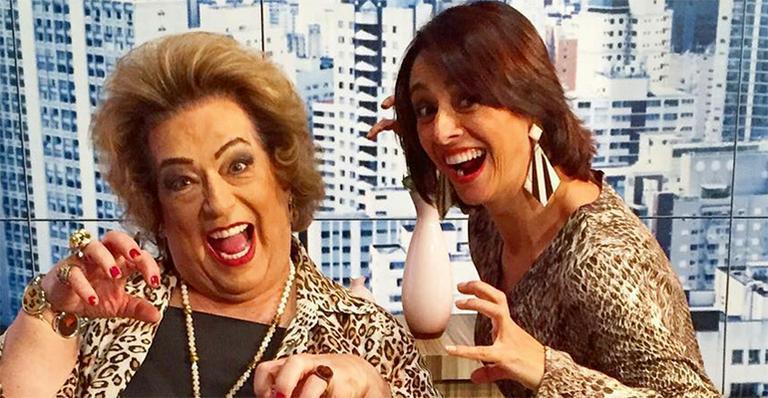 Mamma Bruschetta e Catia Fonseca no Mulheres (Reprodução)