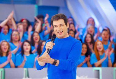 Celso Portiolli, apresentador do SBT, que comanda o Domingo Legal (Foto reprodução)