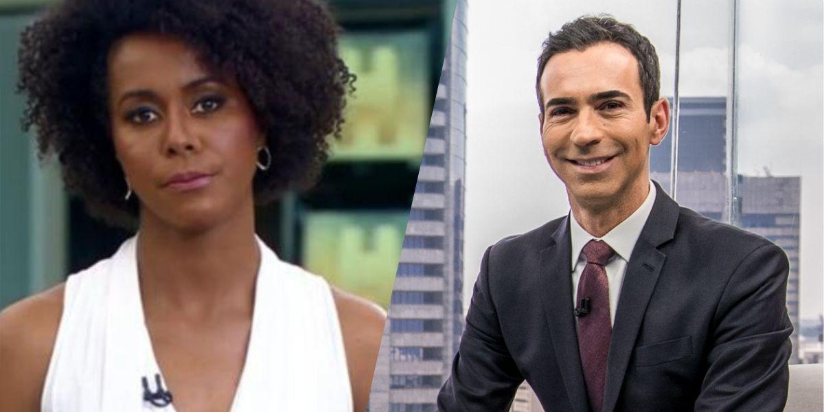 César Tralli e Maju Coutinho (Montagem: TV Foco)