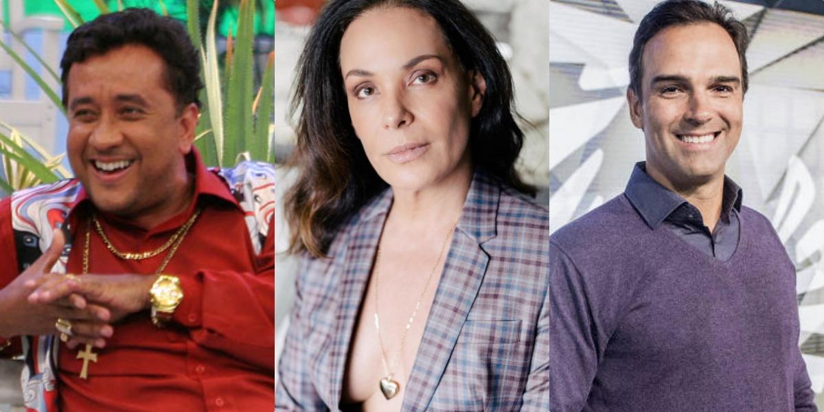 Paulinho Gogó, Carolina Ferraz e Tadeu Schmidt (Reprodução)