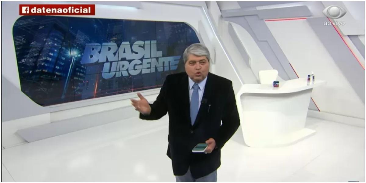 Datena voltou a causar na mídia e detonou um jornalista da Globo (Foto: Reprodução)