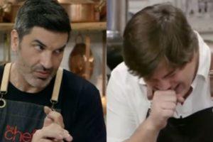 Edu Guedes e Lucas Salles no The Chef, da Band (Reprodução)