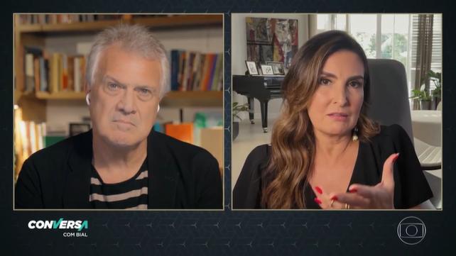 A apresentadora conversou com Pedro Bial (Foto: Reprodução)