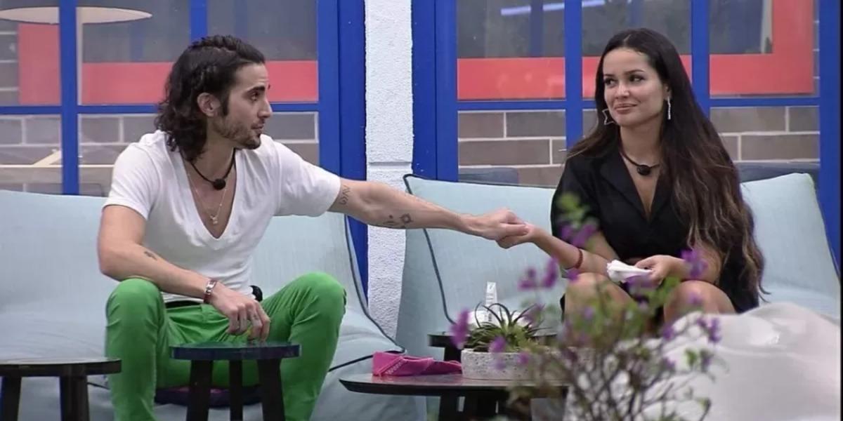 Fiuk aproveitou para se desculpar com Juliette na noite de ontem (20), no BBB (Foto: Reprodução/ TV Globo)