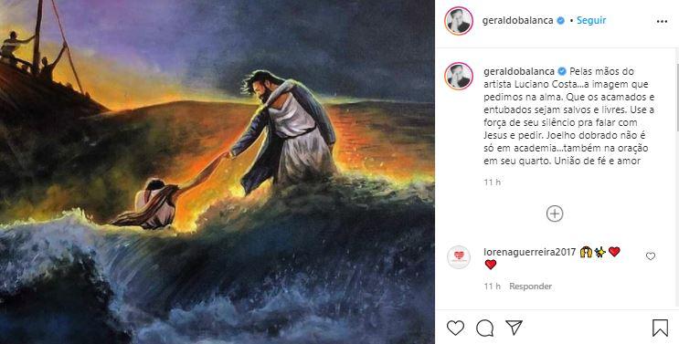 Geraldo Luís pediu que os fãs orassem mais (Foto: Reprodução/Instagram)