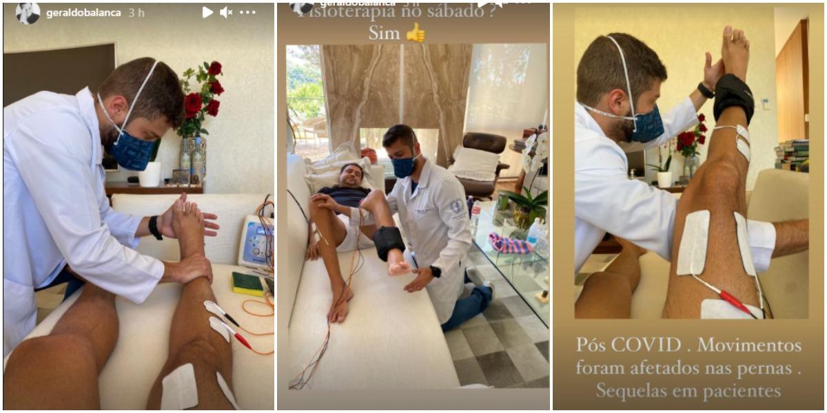 Geraldo Luís mostra tratamento para voltar a andar e fala do progresso (Foto: Reprodução)