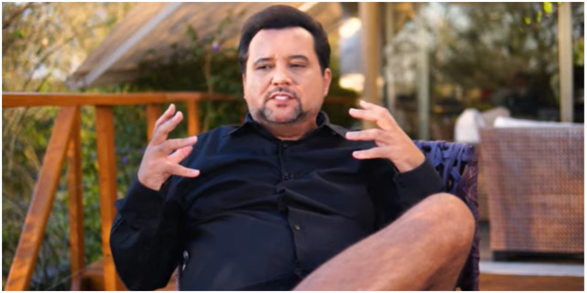 Geraldo Luís mostrou o processo para recuperar os movimentos da perna (Foto: Reprodução)