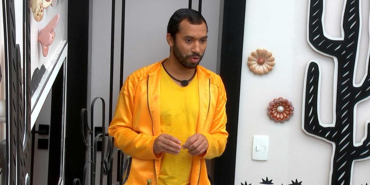 Gilberto faz promessa ousada no BBB21 (Foto: Reprodução)