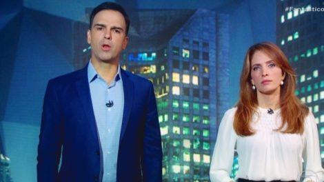 Tadeu Schmidt e Poliana Abritta (Foto: Reprodução)