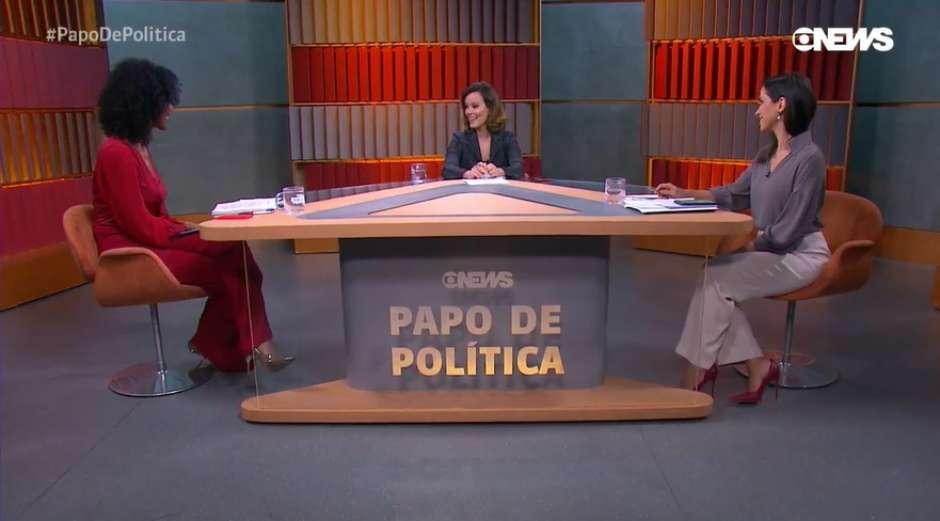 Maju Coutinho no novo programa de polícia da Globo News (Foto: Reprodução)