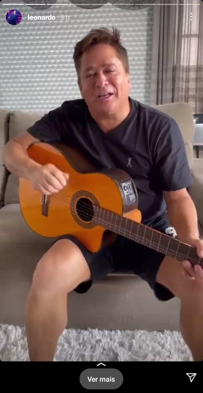 Leonardo fez questão de divulgar a música de Zé Felipe com Virgínia (Foto: Reprodução/ Instagram)