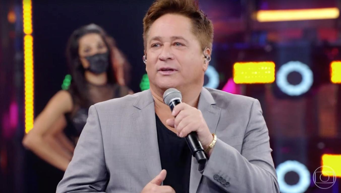 Leonardo esteve presente no Faustão da Globo (Foto reprodução)